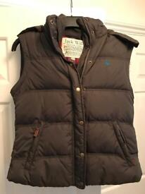 Jack Wills Woman's Gilet size 12 with detachable faux fur hood