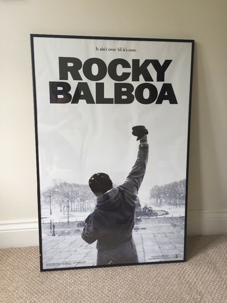 Winter Isnt Over Till Its Over >> Rocky Balboa Black White Poster It Ain T Over Til It S Over In