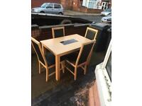 Lovely solid beech dining table with 4 lovely chairs