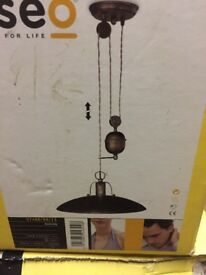 Antique style pendant lights x3