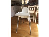 Ikea high chair, tray and cushion
