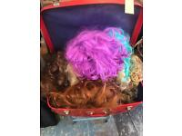 Huge lot of wigs. Maybe 20
