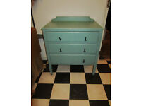 Lovely old painted wooden chest of drawers