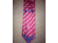 Burberry Red/Burgandy striped designer tie 100% genuine! Great gift