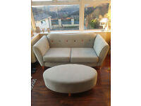 3 seater sofa & matching footstool