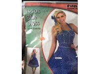 1950s blue dress fancy dress costume