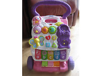 Vtech First Steps Baby Walker Pink - lovely toy - see it for sale on lots of toy websites