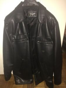 Selling a black leather sports jacket