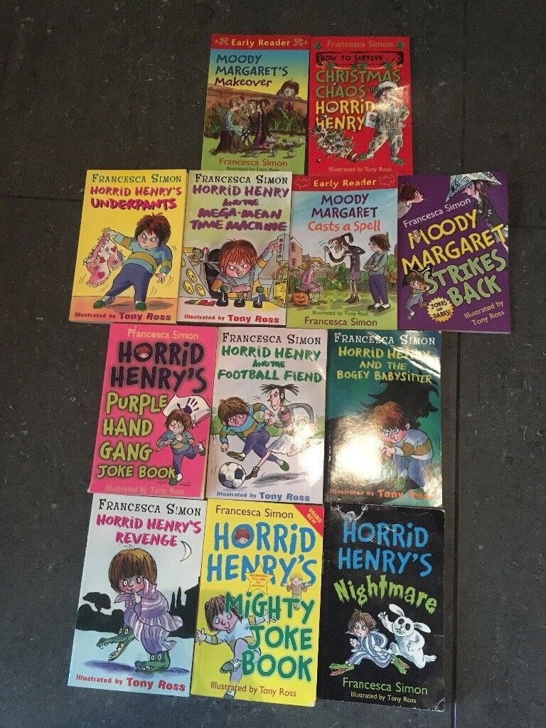 12 horrid Henry book bundle