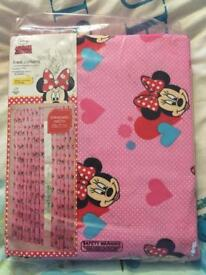 New sealed Minnie Mouse curtains