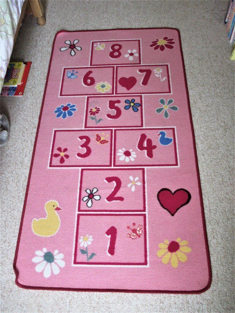 Pretty Pink Hopscotch Rug - Bedroom/Playroom