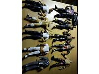 40 x wwe wrestling figures