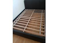 Bed frame double with drawer