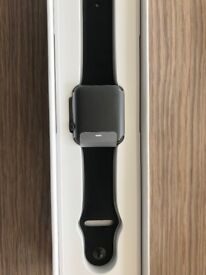 Unused Apple Watch 2, Series 1 - Boxed - Space-Grey/All Black Sport 42mm (S, M & L straps in box)