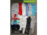 Used baby boy clothes 3-6mths