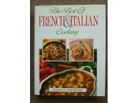 French and Italian cooking book.