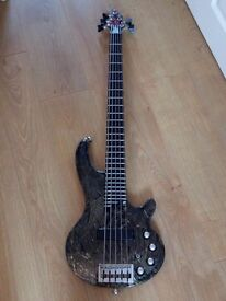 Bass Guitar 5 string Cort Curbow 5 MIC 5-String Electric Bass Guitar Mystic-Ice-Crazer