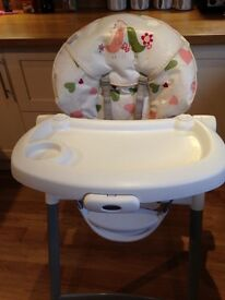 Graco adjustable highchair