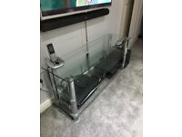 3 tier TV glass stand