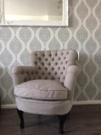 New tub armchair light grey