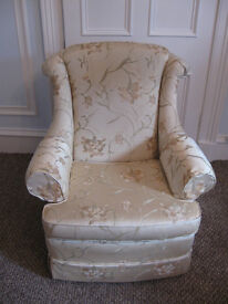 FREE --- High Quality Wade Astoria Armchair Yellow / Gold Material Floral Pattern Scotchguard