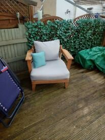 2large wooden chairs.