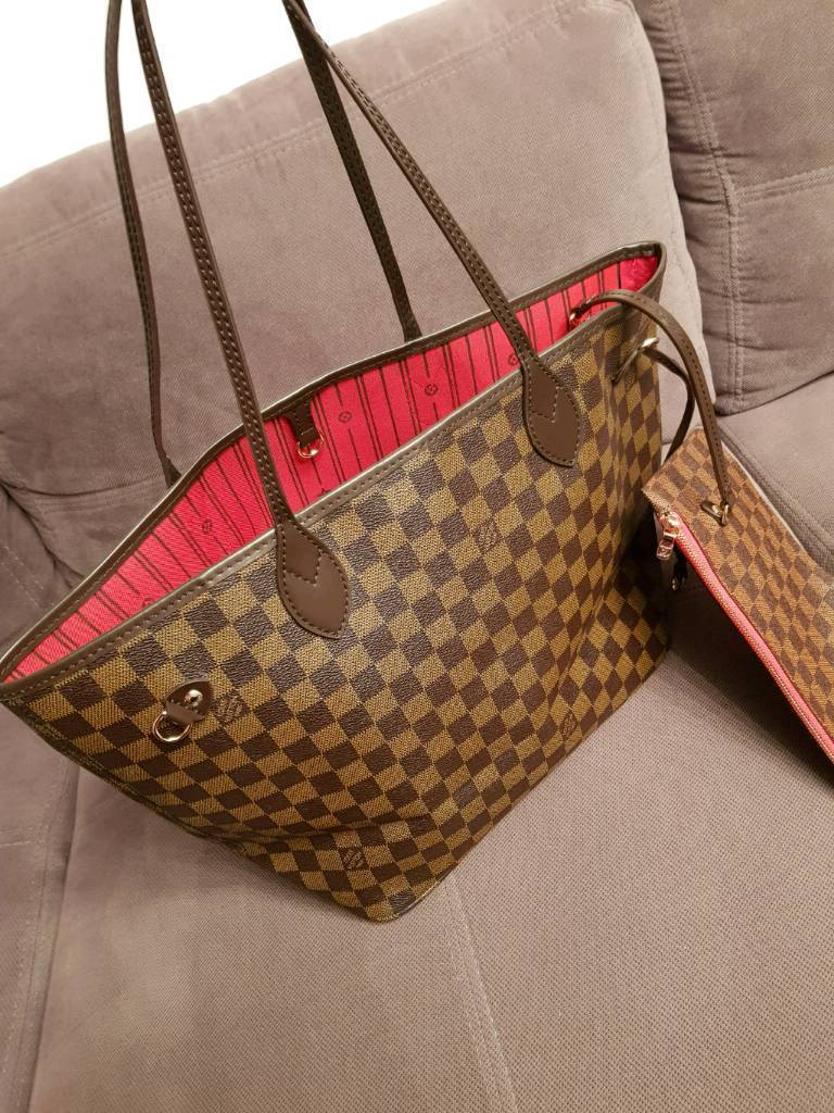 New Louis Vuitton Neverfull LV MM Red Red Woman's Hand Bag