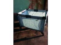 Travel playpen with uv hood