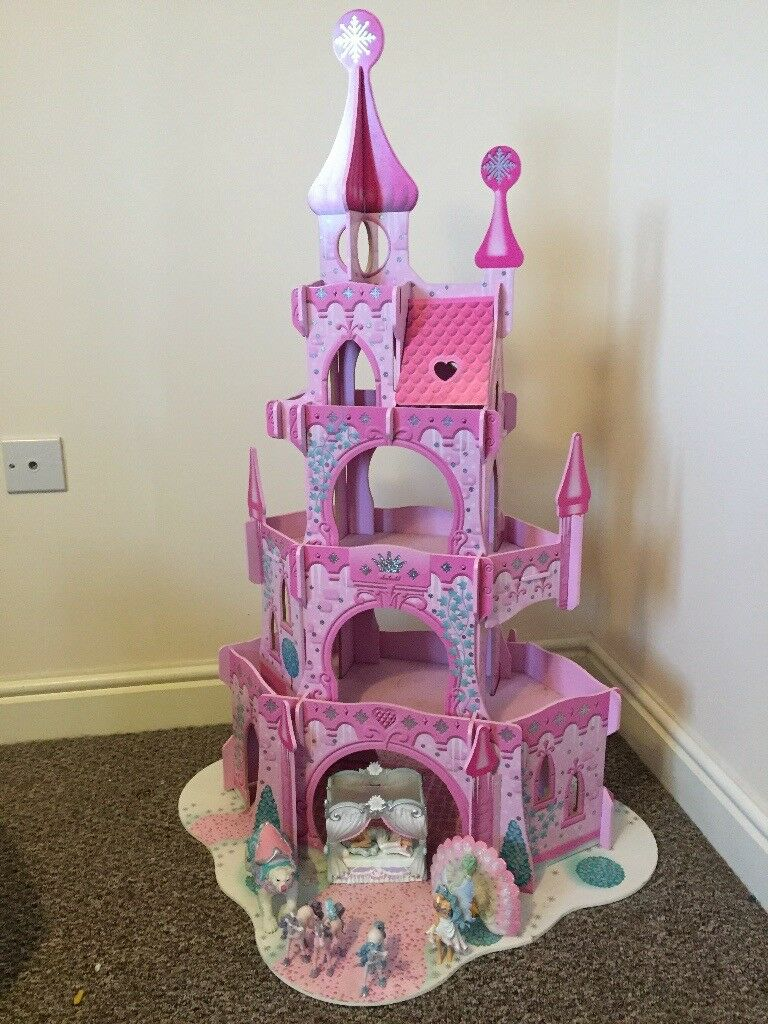 ELC pink wooden princess castle and figures