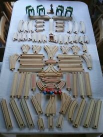 Job lot of Genuine Brio Wooden Train Track 80 pieces
