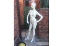 Female ex shop mannequin with glass foot stand. £40 ONO