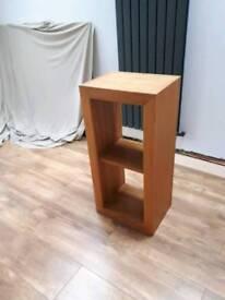 Solid oak 3 shelf unit