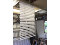 3 x Sunwood 50mm slat wooden Venetian blinds 2 in Pure White and 1 in Polar White