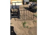 Pair of Wrought Iron type gates for a driveway and an additional section plus a sideway gate