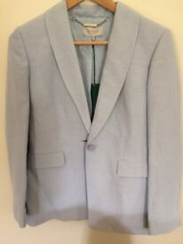 Hobbs Pale Blue Linen/Silk Jacket. Size 10. With Tags. Never Worn.