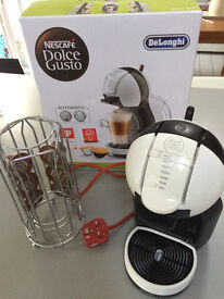 Nescafe dolce gusto coffee machine with holder and pods boxed mint