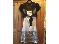Warehouse cream dress size 8