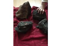 4 big pice lava rock Great for aquascaping smaller tank