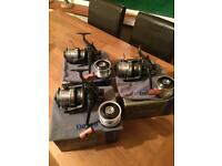Daiwa infinity 5500 be reels x3 with spare spools and case