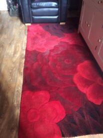 Red wool rug