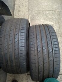 Pair of 235 35 19 tyres with 7mm dot 2017 1 Year Old
