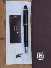 Mont Blanc Meisterstuck 149 Fountain Pen - Box, Pouch & Booklet - 14k Nib, Near Mint