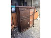 Dark wood cabinet ~ vintage