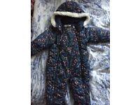 Girls 12-18 months pramsuit snow suit M&S