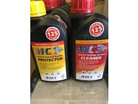 Central heating cleaner x12. And 3 protector