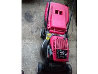 Mountfield petrol self propelled rotary lawn mower with grass box 4 stroke engine starts first time