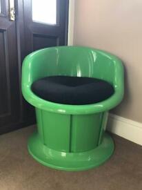 Green IKEA storage chair