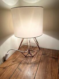 Pair of copper lamps
