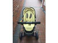 Icandy baby bundle including icandy pram,next to you crib,car seat and more!