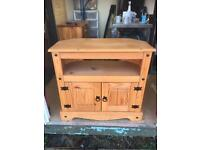 Solid pine TV stand. Free delivery